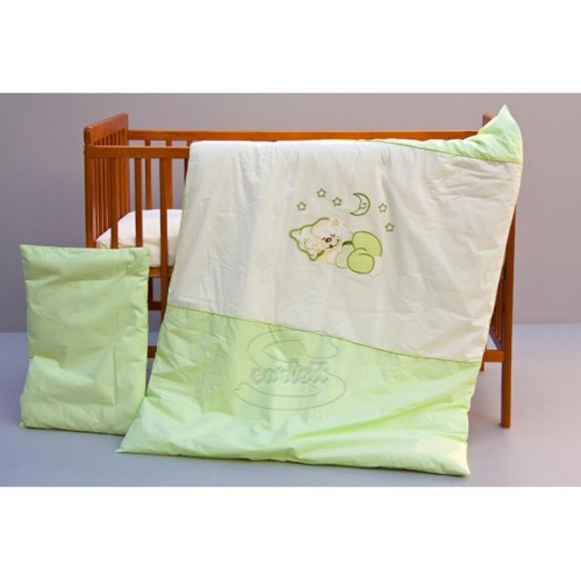 Dětské povlečení 2dílné Měsíček - zelené 100 x 135 cm