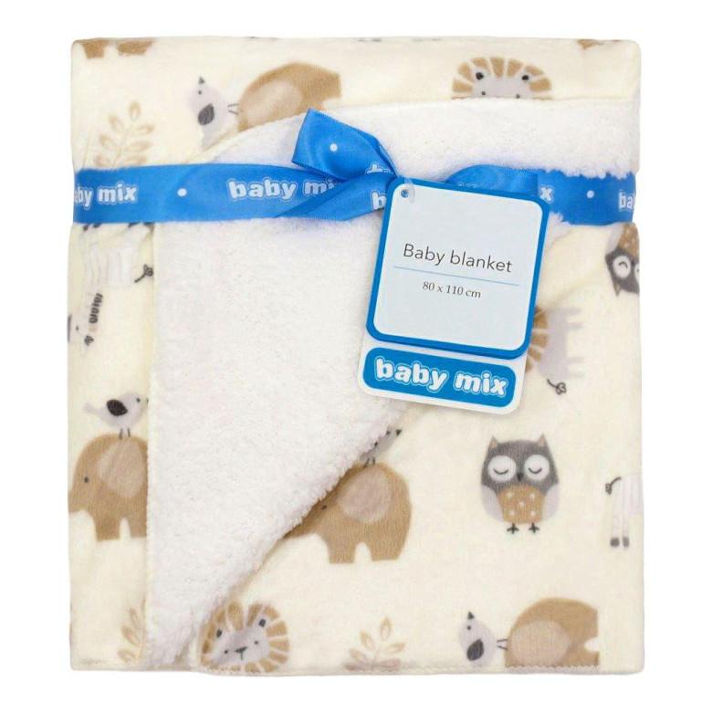 Dětská oboustranná deka Baby Mix mikrovlákno safari