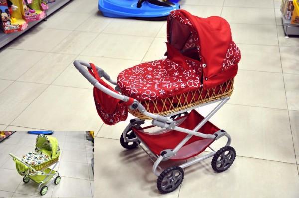 Kočárek Monika proutěný 90x40x70cm pro panenky