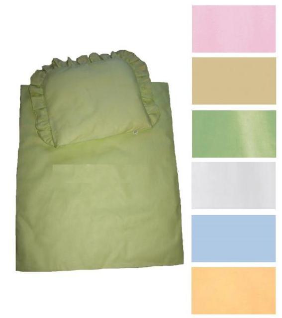 Souprava do kočárku jednobarevná 100% bavlna