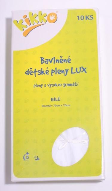 Bavlněné dětské pleny KIKKO LUX 70x70 - bílá