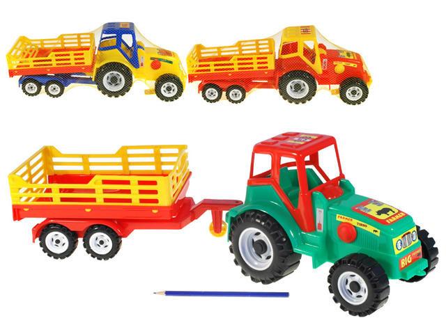 Traktor 213 Farmer s vlekem plast 50cm