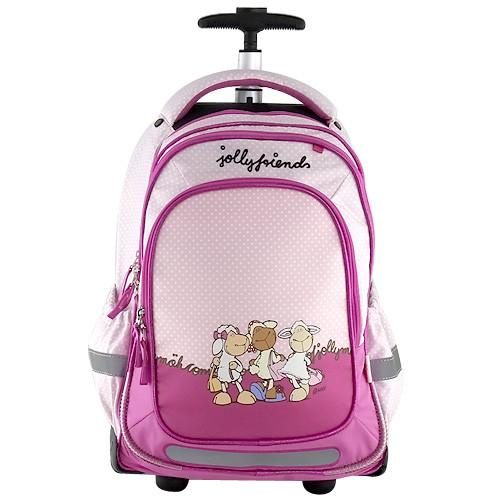 Nici Školní batoh trolley - Jolly Friends - růžový