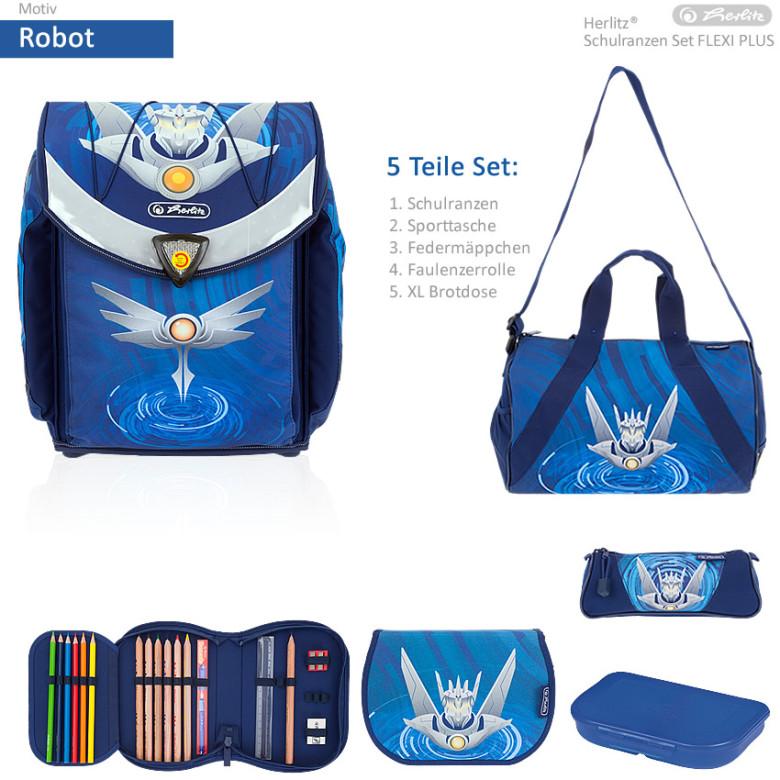 Herlitz Školní taška set Flexi Robot