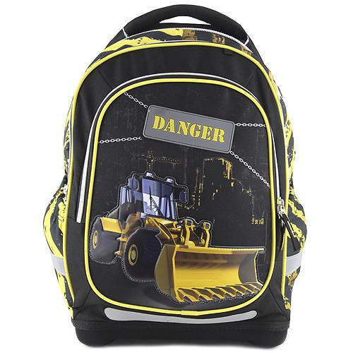Školní batoh Target - Danger-motiv buldozeru