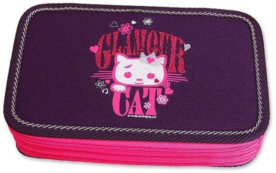Školní pouzdro 3-patra plněné Glamour Cat Emipo  dbce802030