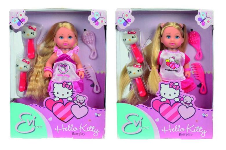 Simba Panenka Evička Hello Kitty Hairplay, 2 druhy