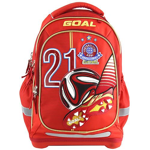 Školní batoh Goal - 3D nášivka kopačky a fotbalového míče - číslo 21 ... 3626c41165