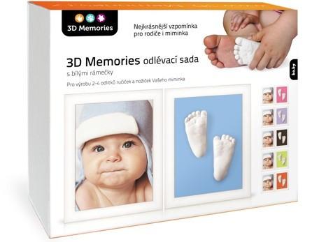 3D Memories 3D Memories odlévací sada baby pro 3D odlitek ručiček a nožiček - dva rámečky bílé
