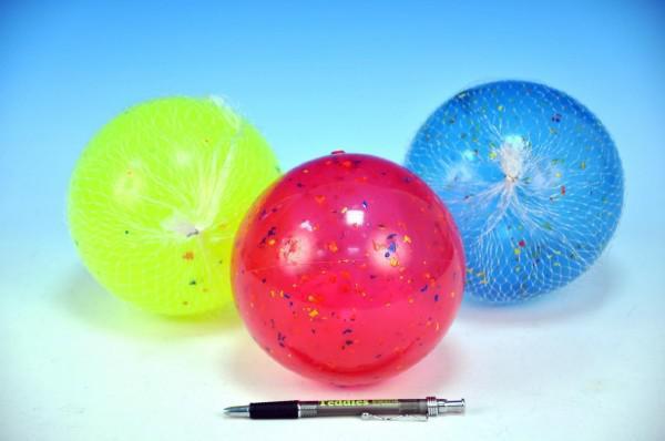 Míč 14cm asst 3 barvy v síťce od 10 měsíců