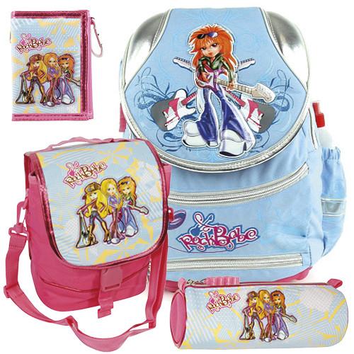 Školní batoh Cool set - 4dílná sada - modrý batoh COOL a školní doplňky RockBabe