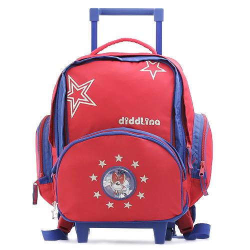 Školní batoh trolley Diddlina - Hvězdičky a mávající myška