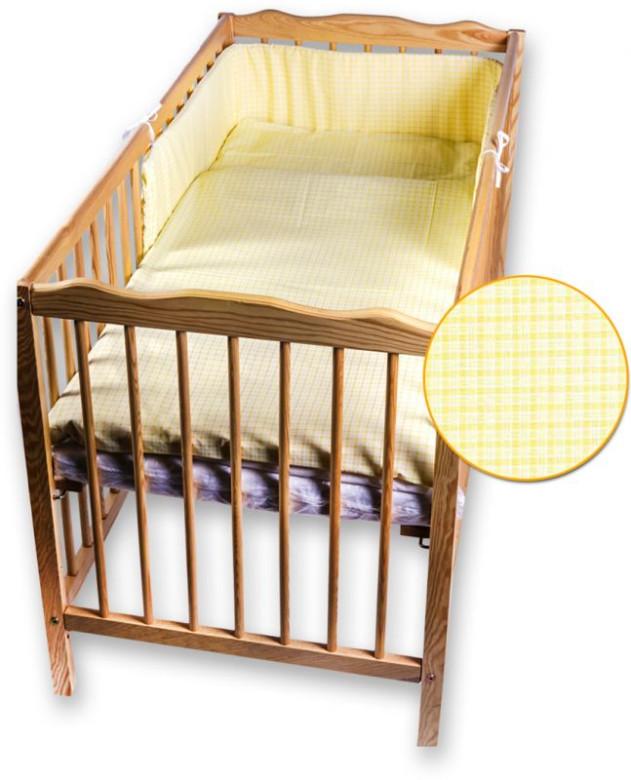 Dětské povlečení 2 dílné žlutá kostka 135 x 100 cm