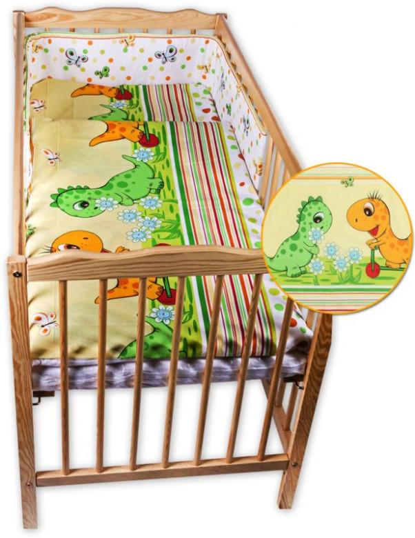 Dětské povlečení 2 dílné Dino žlutá 135 x 100 cm
