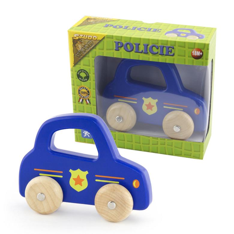 Dřevěná Policie na kolech