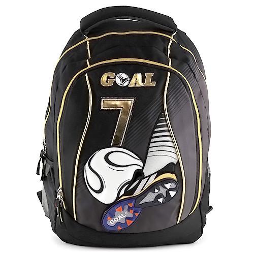 Batoh Goal - černý - zlaté zipy - číslo 7  471a6d9767