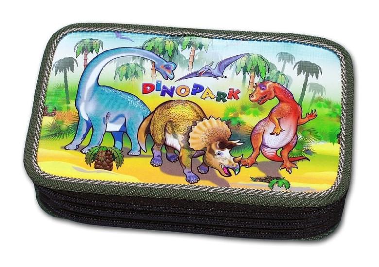 Školní pouzdro 3-patra prázdné Dinopark Emipo
