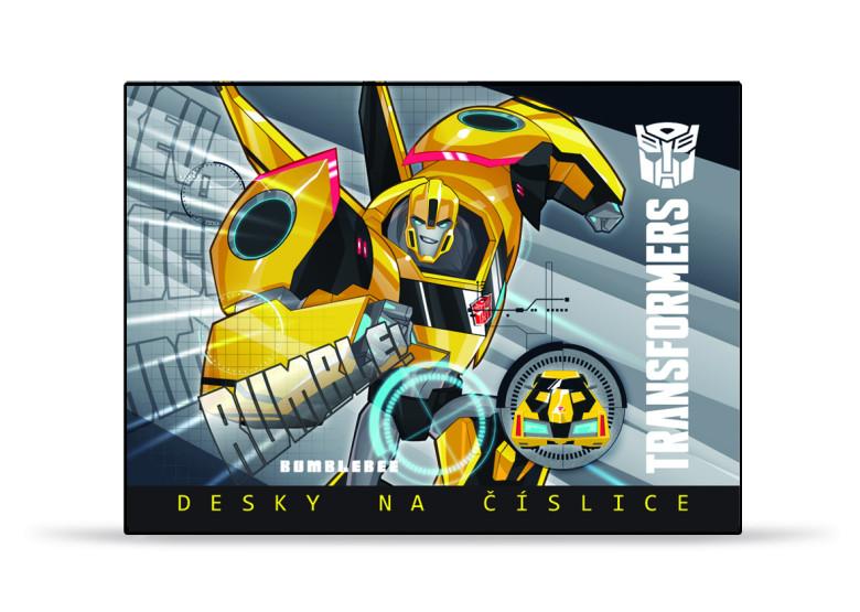 Desky na číslice Transformers žlutý Bumblebee