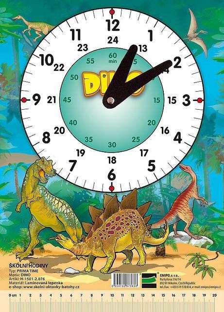Hodiny školní Dino