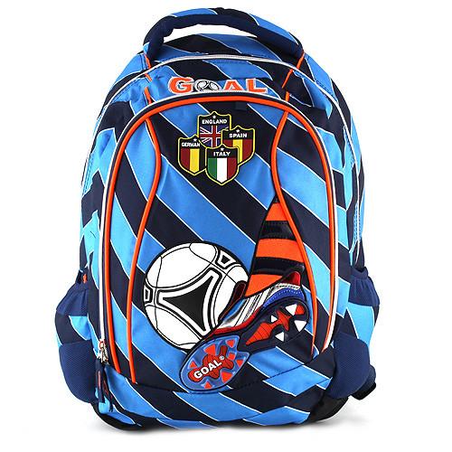 Školní batoh Goal - Modré proužky II.