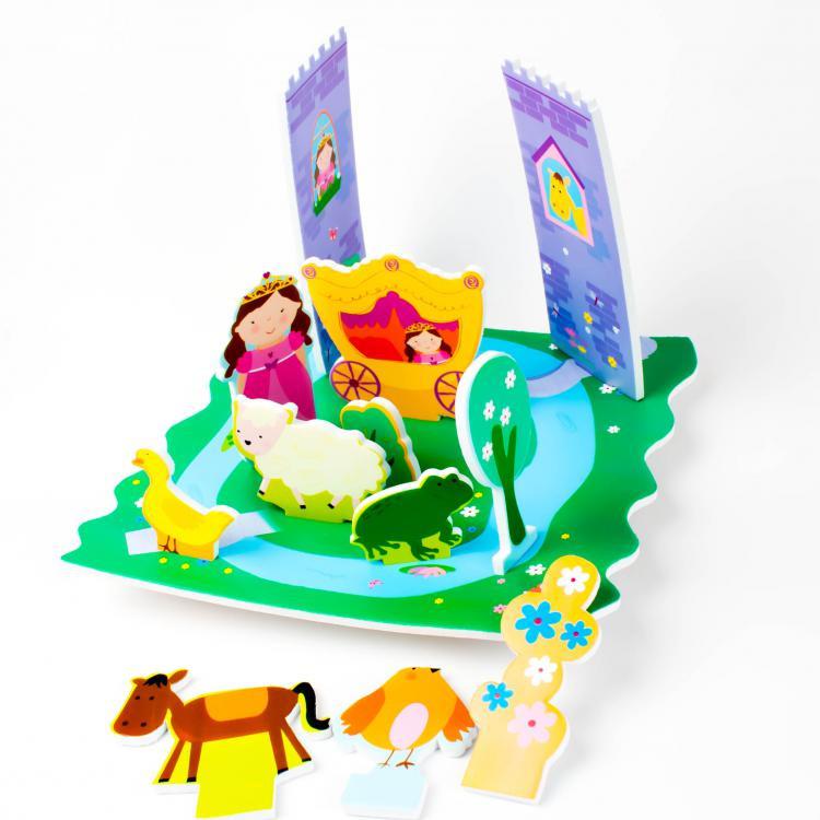 Meadow Sada pěnových hraček do vany Pohádkový zámek
