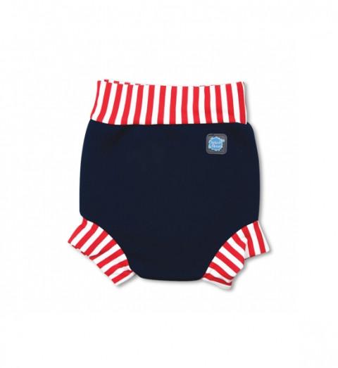 Plavky Happy Nappy - modročervené