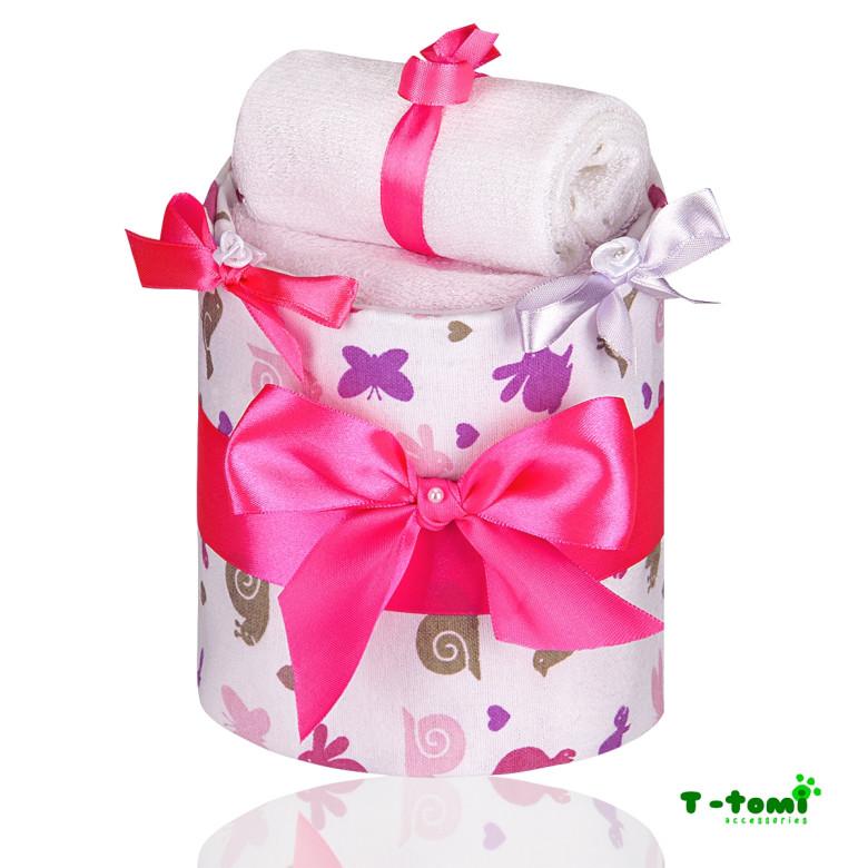 Plenkový dort malý T-tomi, růžový šnek