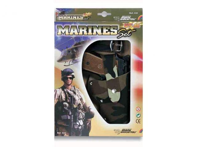 Pistole s pouzdrem - Marine set - třináctiranná