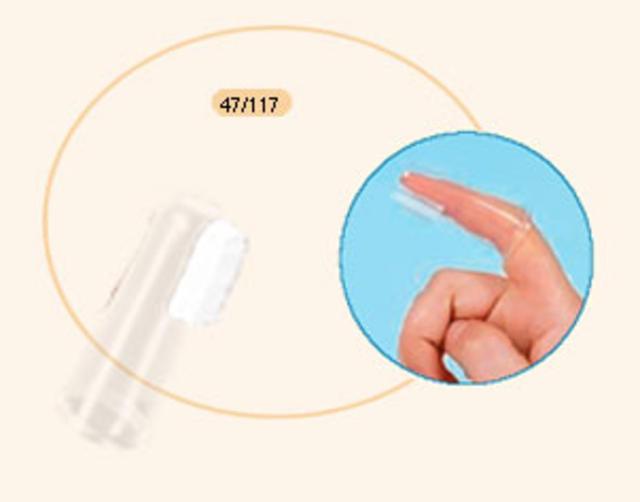 Canpol Silikonový zubní kartáček na prst