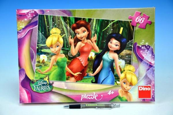 Puzzle Zvonilka Fairies 32,3x22cm 66 dílků v krabici 33x23x3,5cm