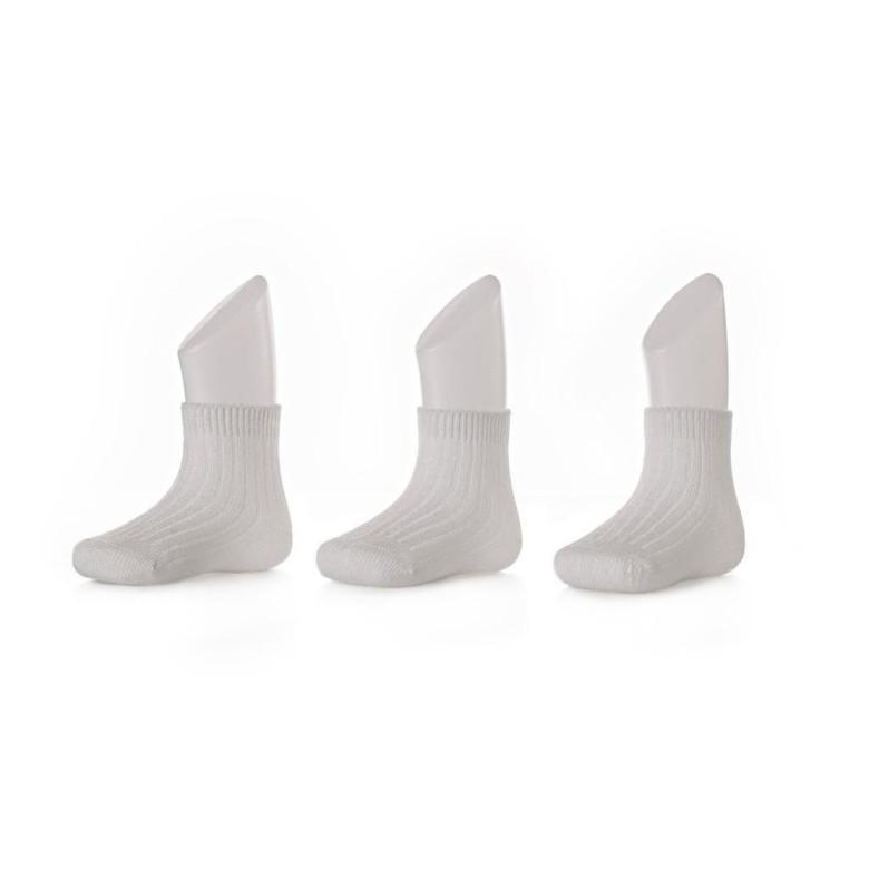 Bambusové ponožky KIKKO Pastels White 3 páry  64d0060ee2