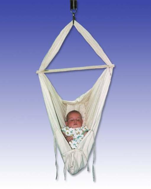 Babyvak Hacka závěsná textilní houpačka - kolébka