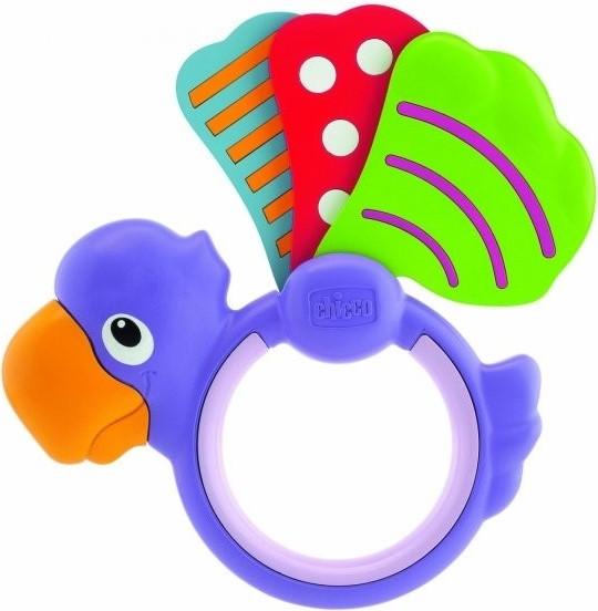 Chicco Chicco Chrastítko lehké papoušek křídlo