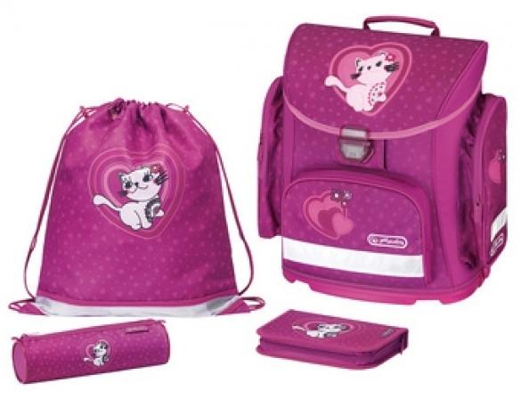 Školní batoh Herlitz Midi Kitty Cat vybavený -nezobra  42e9f96685