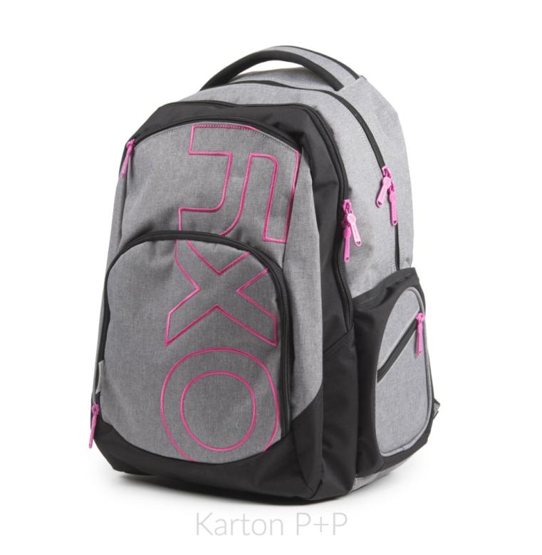 Studentský batoh OXY Style GREY LINE Pink  79857a16b5