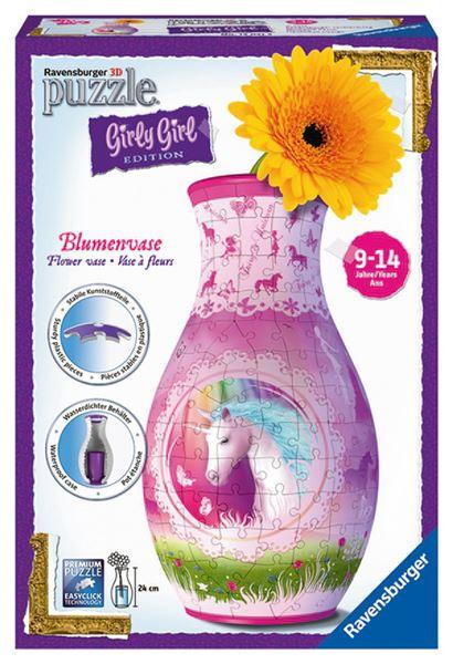 Puzzle váza Jednorožec 3D 216 dílků
