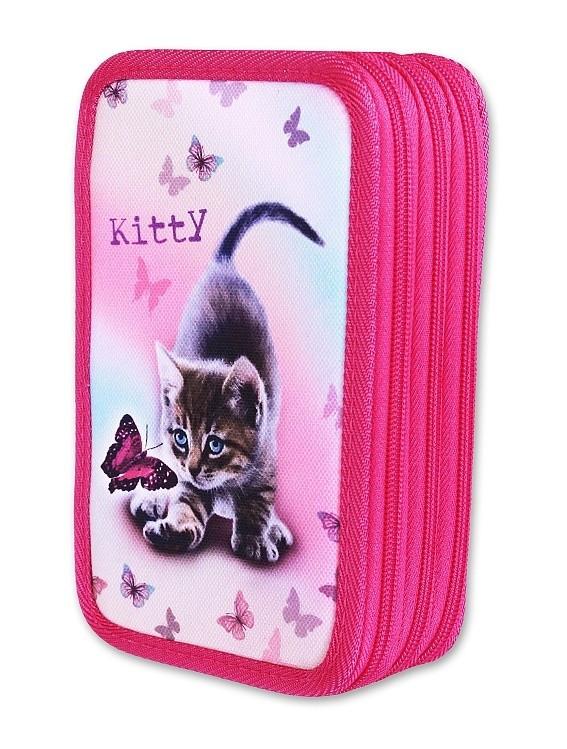 Školní pouzdro 3-patra plněné Kitty Emipo