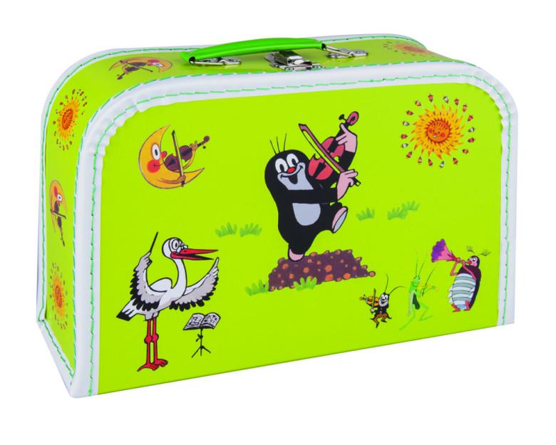 Dětský kufřík 30 cm Krtek a housličky - zelený nezobra