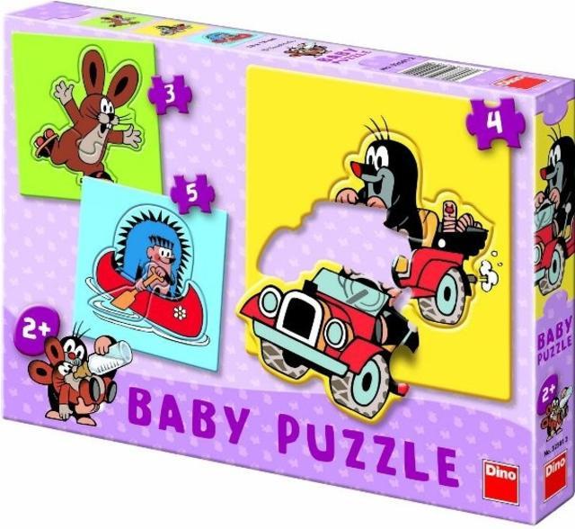 Baby Puzzle Krteček 3, 4, 5 baby Krteček