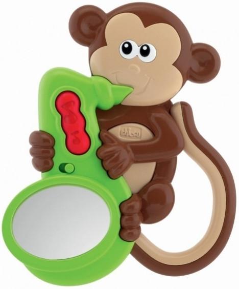Chicco Chrastítko Opička zvuky a světlo nezobra