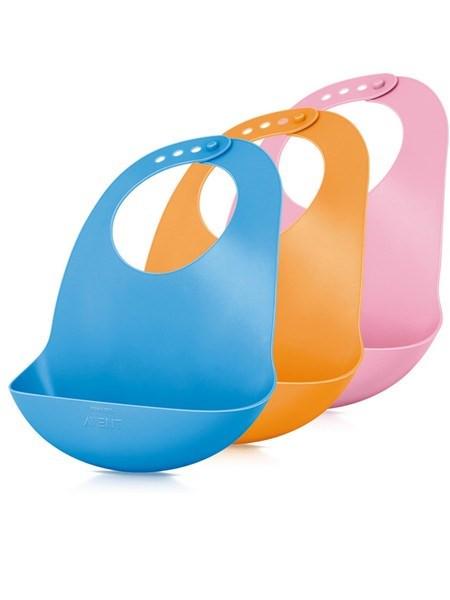 Dětský plastový bryndák Avent 6m+