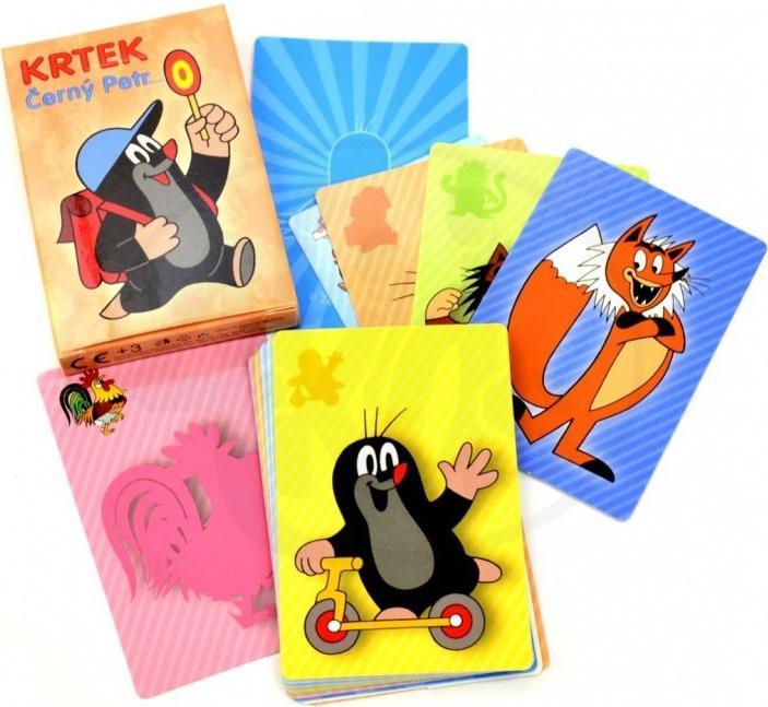 Černý Petr Krtek společenská hra - karty v krabičce
