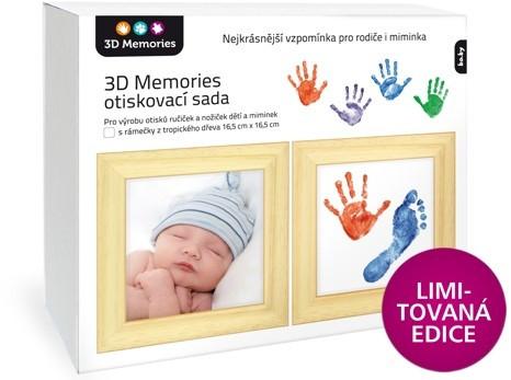 3D Memories 3D Memories otiskovací sada baby pro otisky ručiček a nožiček se dvěma rámečky