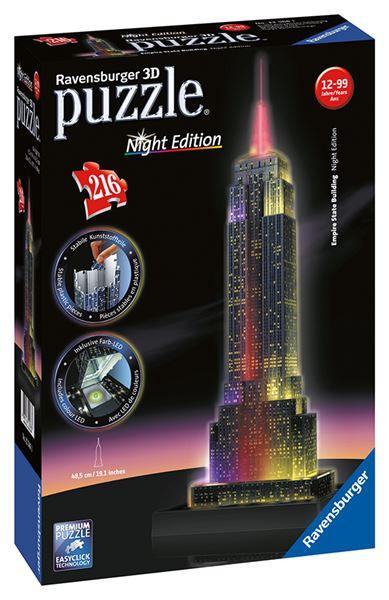 3D puzzle Ravensburger - Empire State Building Noční