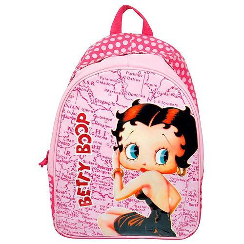 Batoh Betty Boop - růžový s puntíky