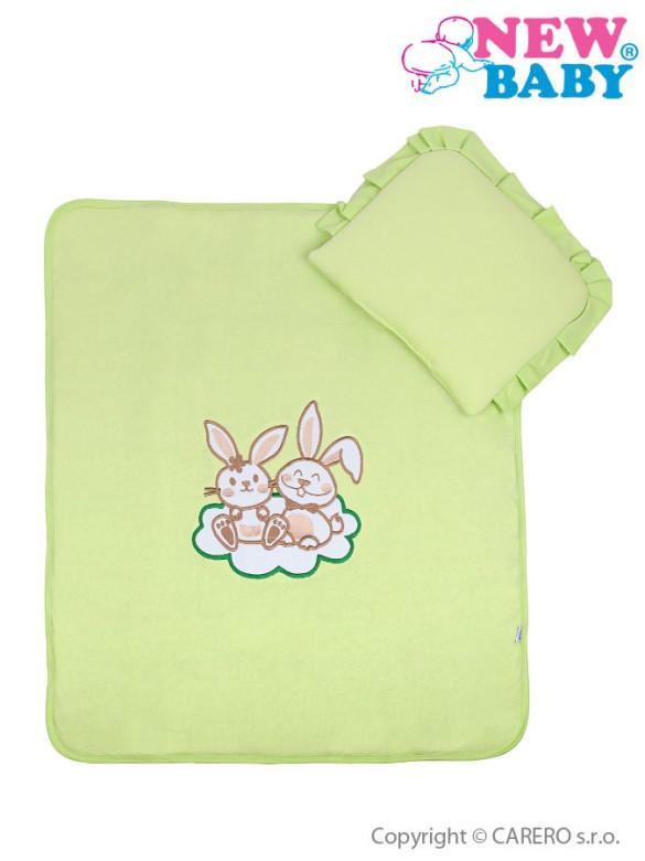 Set do kočárku New Baby JERSEY Bunnies zelený