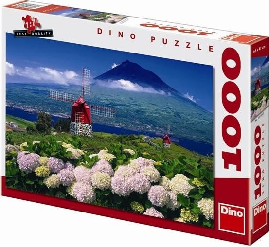 Puzzle Mlýny pod vulkánem 66x47cm 1000 dílků