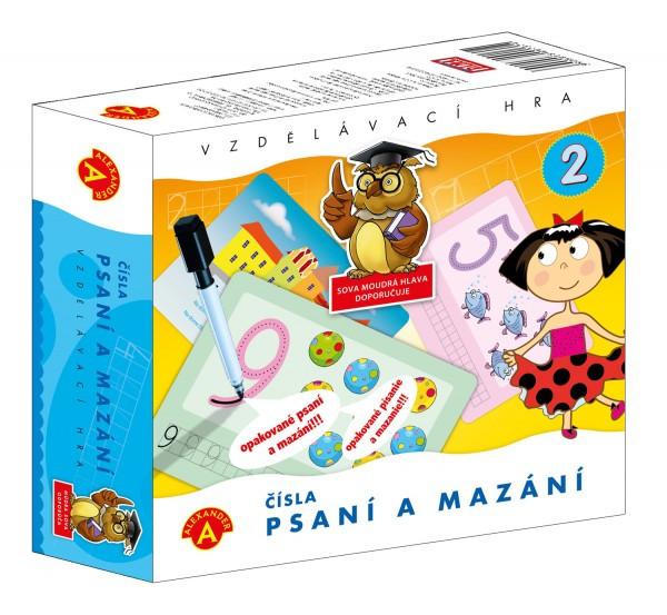 Čísla - Psaní a mazání 2 - didaktická společenská hra v krabici