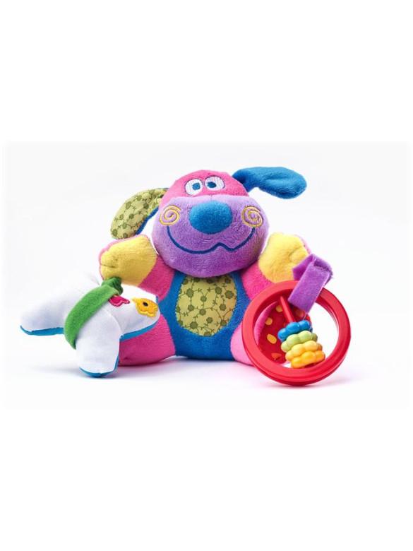 Edukační plyšová hračka Sensillo pejsek s vibrací a chrastítkem