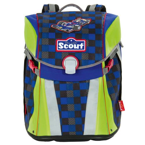 Školní batoh Scout - Formule - modro-zelený I.